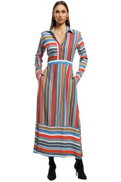 Perseverance London - Stripe LS Midi - Multi - Front