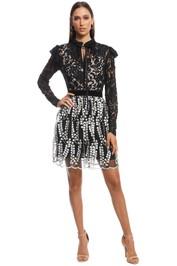 Perseverance London - Wallflower Mini Dress - Black White - Front