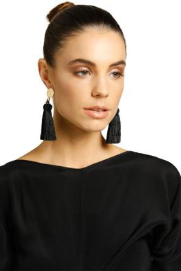 Peter Lang-Drama Earrings-Black-Product