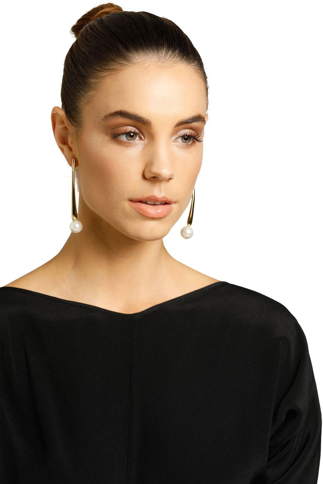 Peter Lang-Toretta Pearl Earrings-Gold-Product