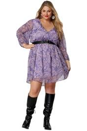 Pink Dusk Living Legend Wrap Dress mini