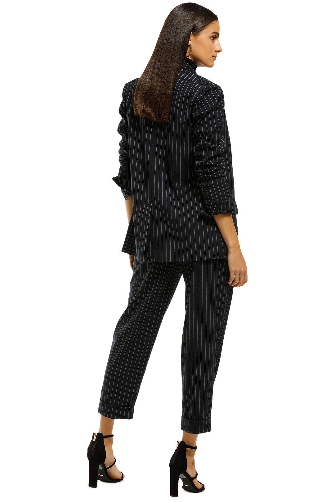 Nicholas the Label - Pinstripe Suiting Pant - Navy - Back