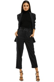 Nicholas the Label - Pinstripe Suiting Pant - Navy - Front