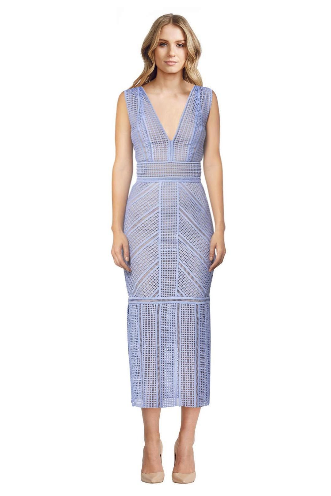 Rachel Gilbert - Daysi Maxi Dress - Chalk Blue - Front