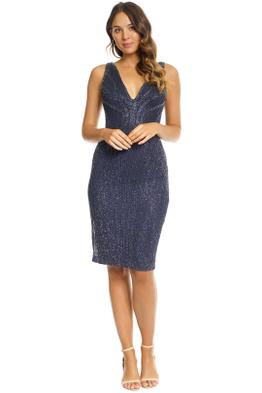 Rachel Gilbert - Layla Dress - Navy Sequin - Front