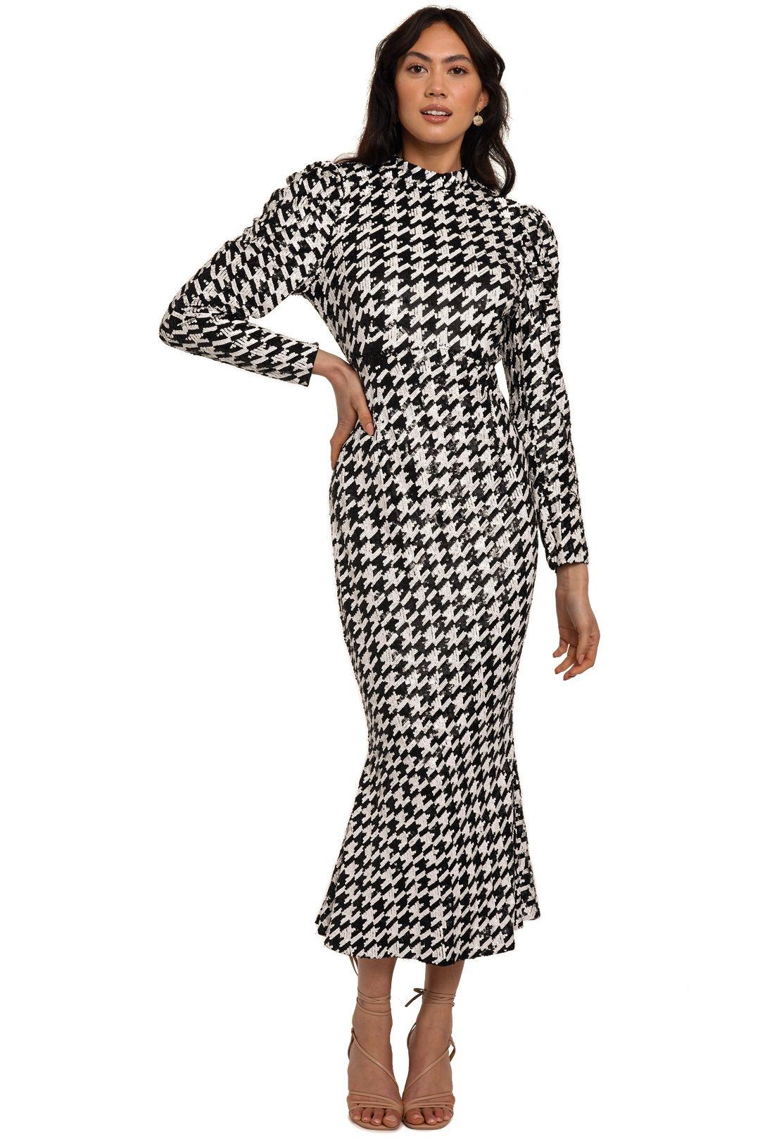 Rachel Gilbert Emory Dress Black White