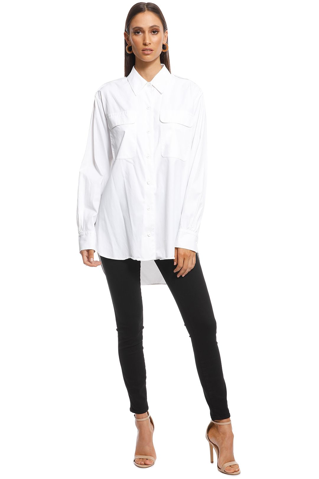 Rag and Bone - Poplin Shirt - White - Front