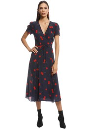 Realisation Par - The Teale Midi Dress - Wild Cherry - Front