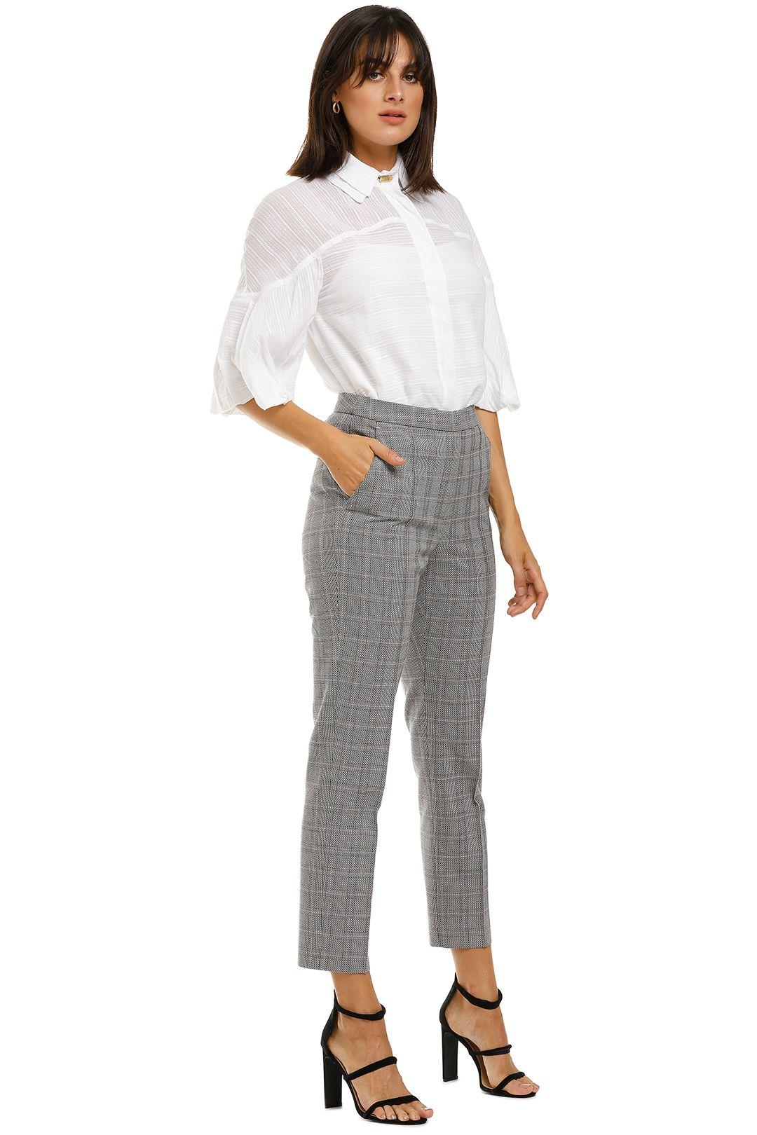Rebecca-Margot-Slim-Pant-Grey-Check-Side