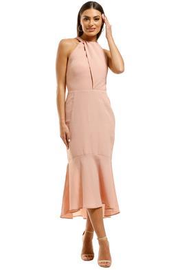 Rebecca-Vallance-Amnrosia-Halter-Midi-Dress-Clay-Front