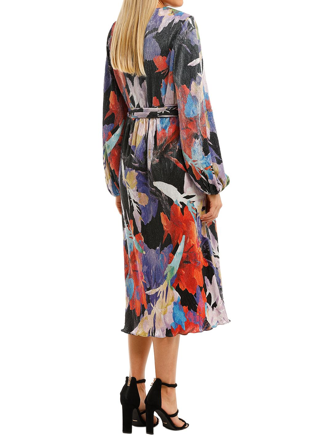 Rebecca-Vallance-Belladonna-LS-Midi-Dress-Print-Back