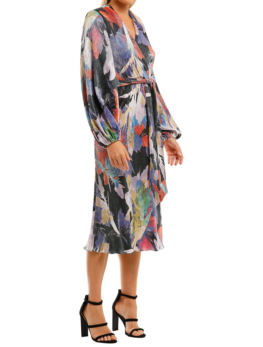 Rebecca-Vallance-Belladonna-LS-Midi-Dress-Print-Side