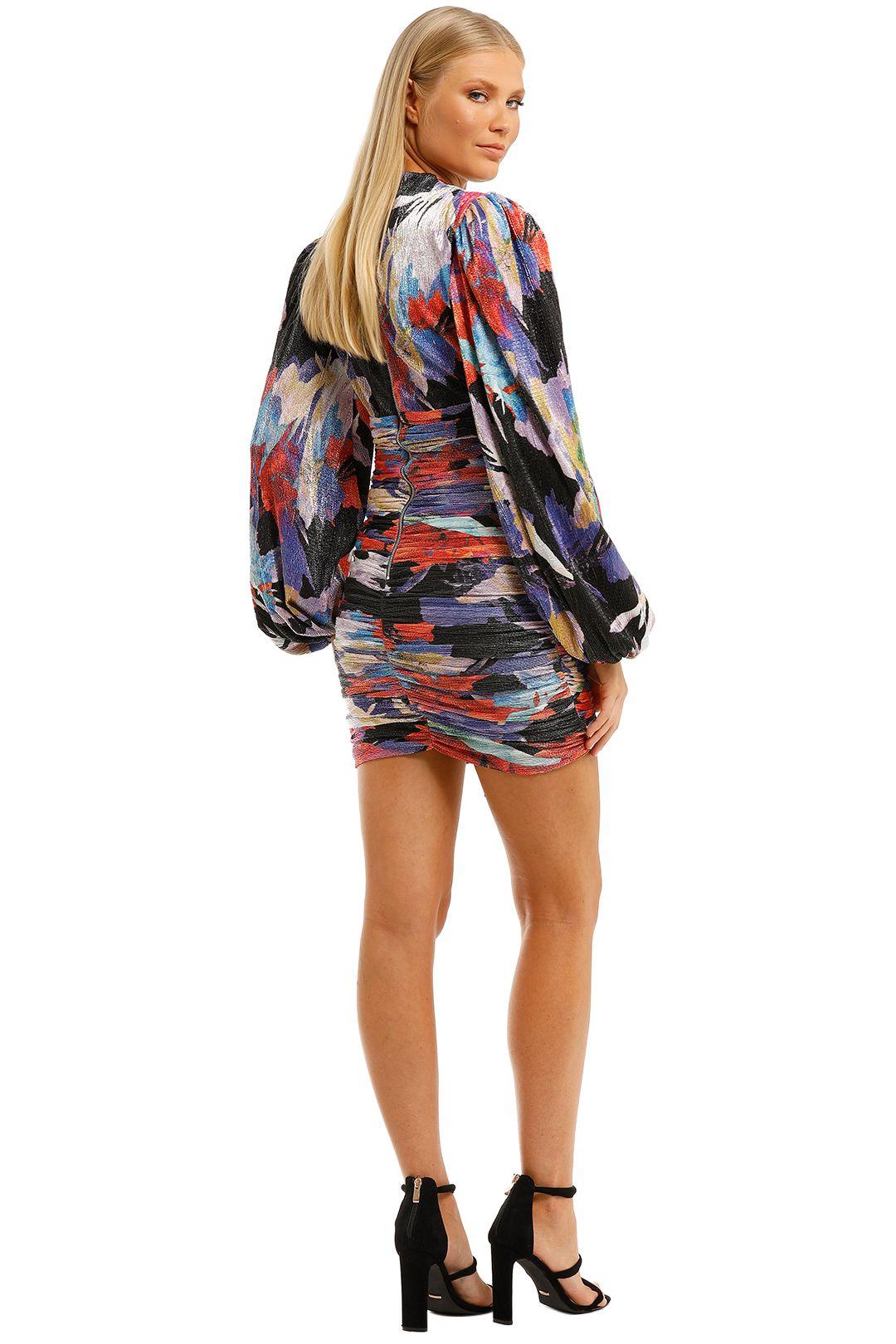Rebecca-Vallance-Belladonna-LS-Mini-Dress-Print-Back