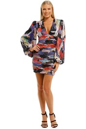 Rebecca-Vallance-Belladonna-LS-Mini-Dress-Print-Front