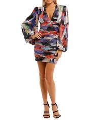 Rebecca-Vallance-Belladonna-LS-Mini-Dress-Print-Front