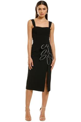 Rebecca-Vallance-Celeste-Tie-Midi-Dress-Black-Front