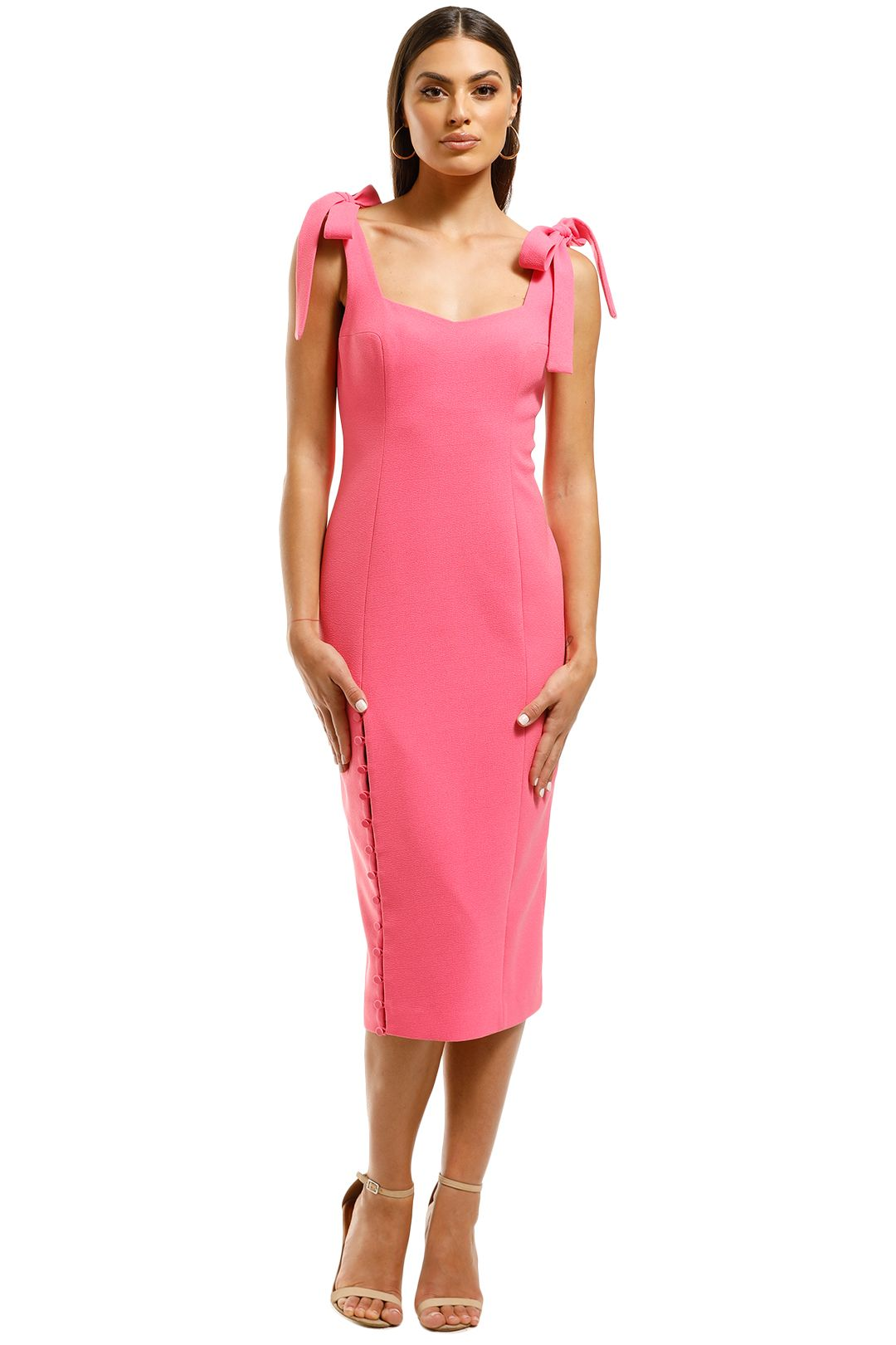 Rebecca-Vallance-Cortona-Midi-Dress-Pomegranite-Front