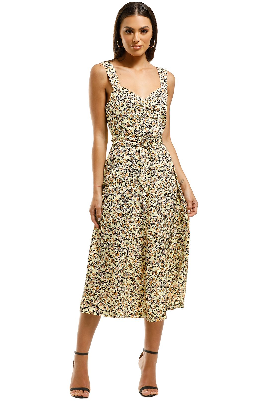 Rebecca-Vallance-Ellie-Sleeveless-Dress-Yellow-Floral-Front