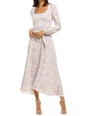 Rebecca-Vallance-Fleur-LS-Midi-Dress-Floral-Print-Front