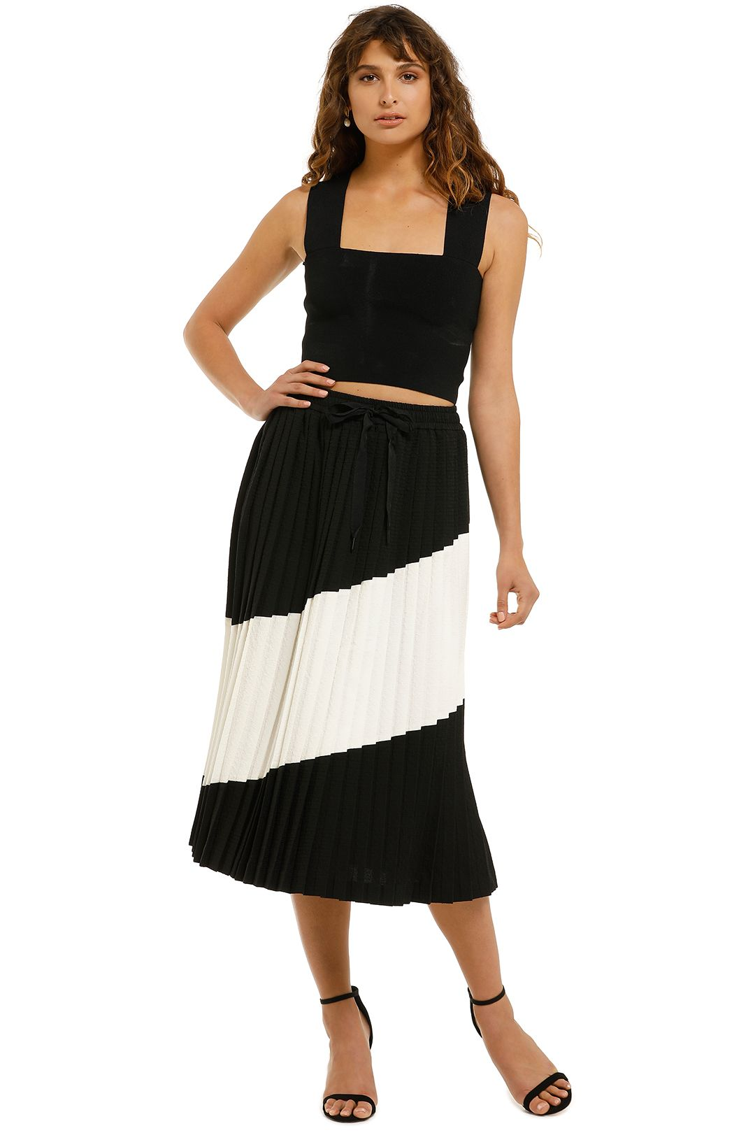 Rebecca-Vallance-Gia-Skirt-Black-And-White-Front