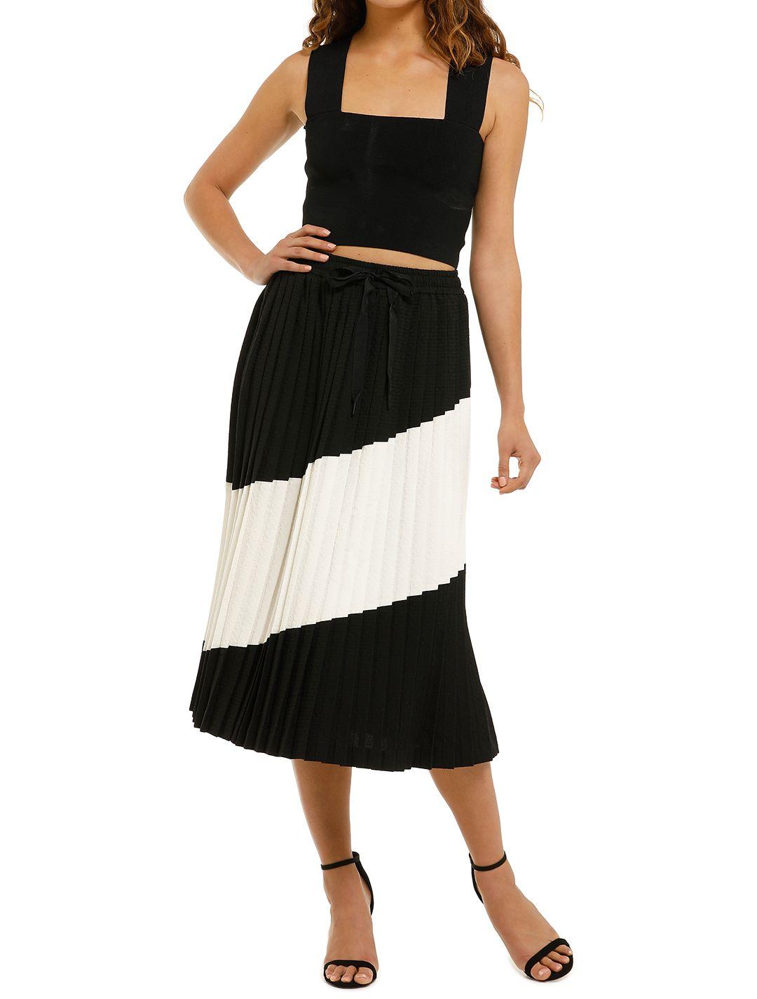 Rebecca-Vallance-Gia-Skirt-Black-And-White-Front