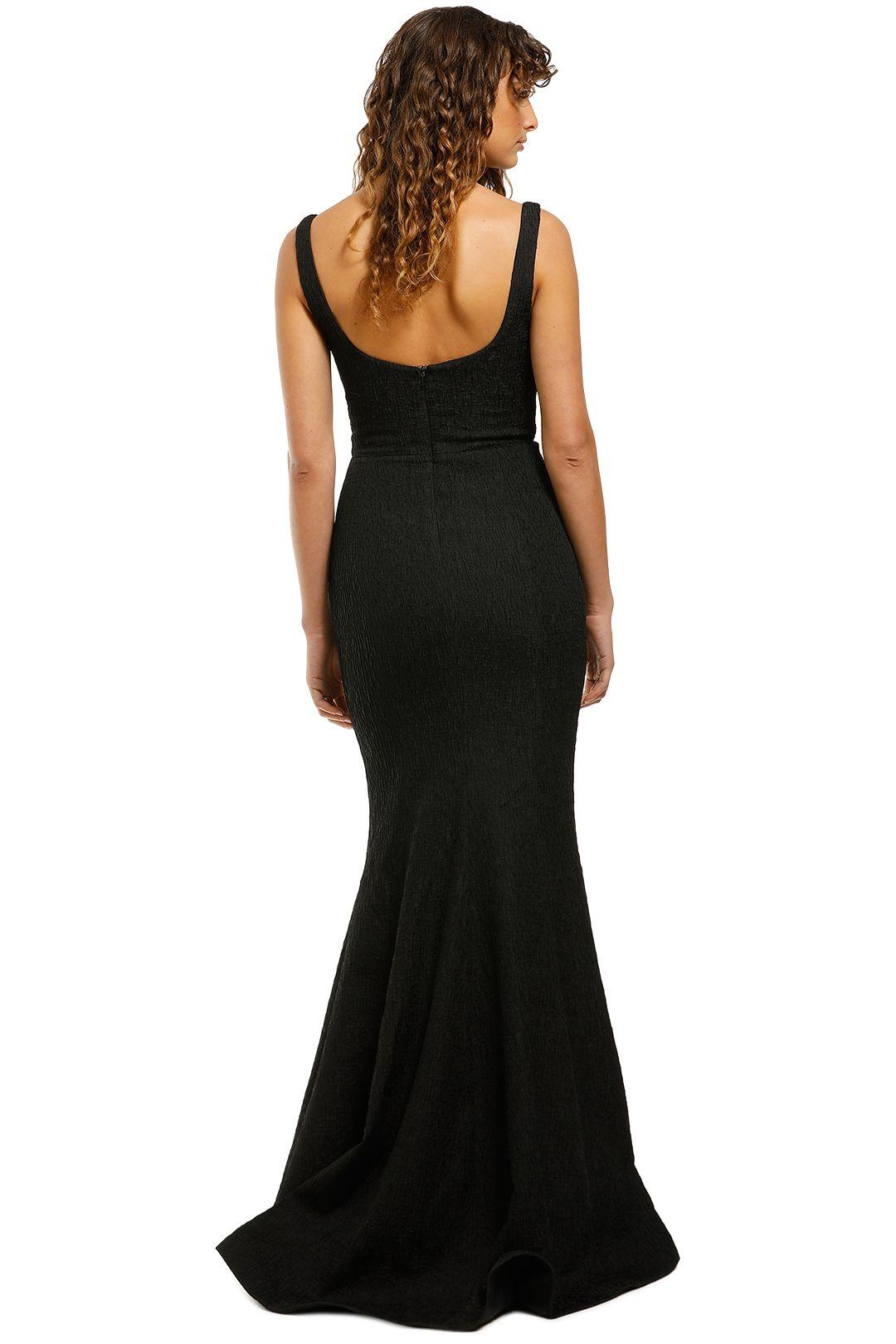 Rebecca-Vallance-Greta-Gown-Black-Back