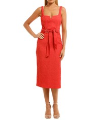 Rebecca-Vallance-Greta-Midi-Dress-Coral-Front