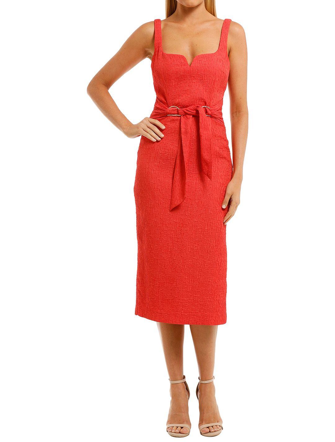 Rebecca-Vallance-Greta-Midi-Dress-Coral-Front