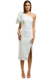 Rebecca-Vallance-Hamptons-Midi-Bow-Dress-Blue-Front