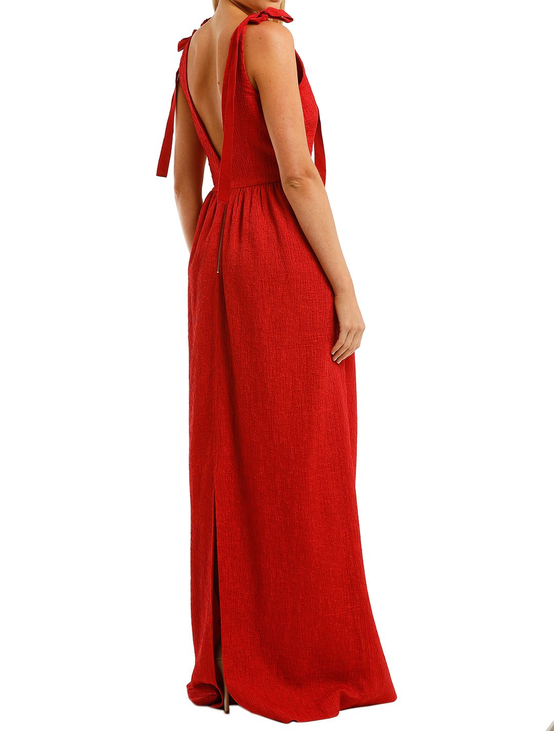 Rebecca-Vallance-Harlow-Tie-Gown-Red-Back