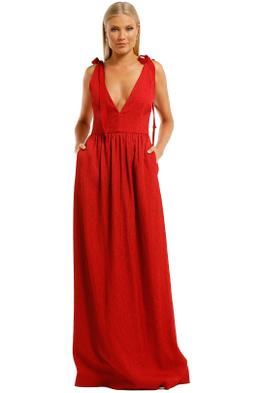 Rebecca-Vallance-Harlow-Tie-Gown-Red-Front