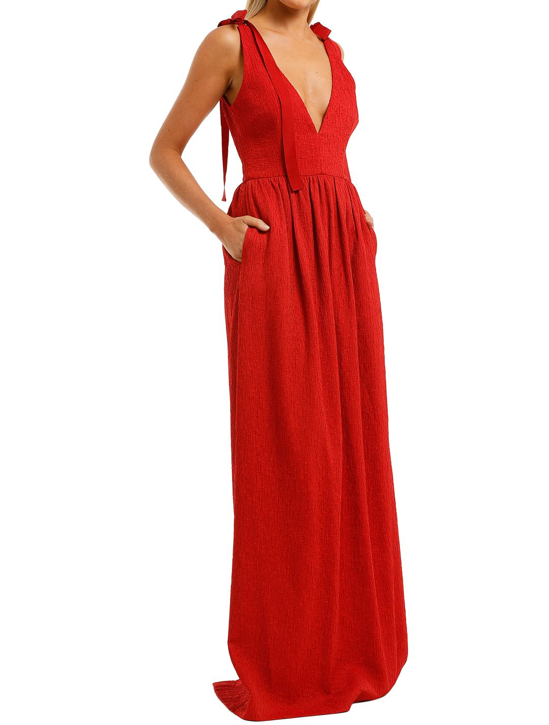 Rebecca-Vallance-Harlow-Tie-Gown-Red-Side
