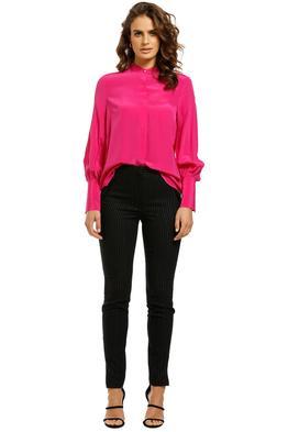 Rebecca-Vallance-Lillian-LS-Blouse-Hot Pink-Front