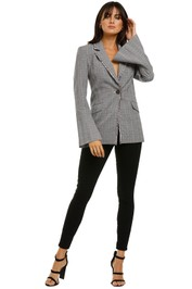 Rebecca-Vallance-Margot-Blazer-Grey-Check-Front