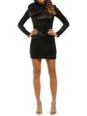 Rebecca-Vallance-Mica-LS-Mini-Dress-Front