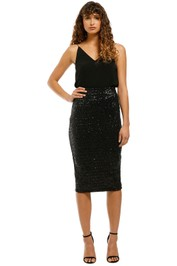 Rebecca-Vallance-Mica-Pencil-Skirt-Black-Front