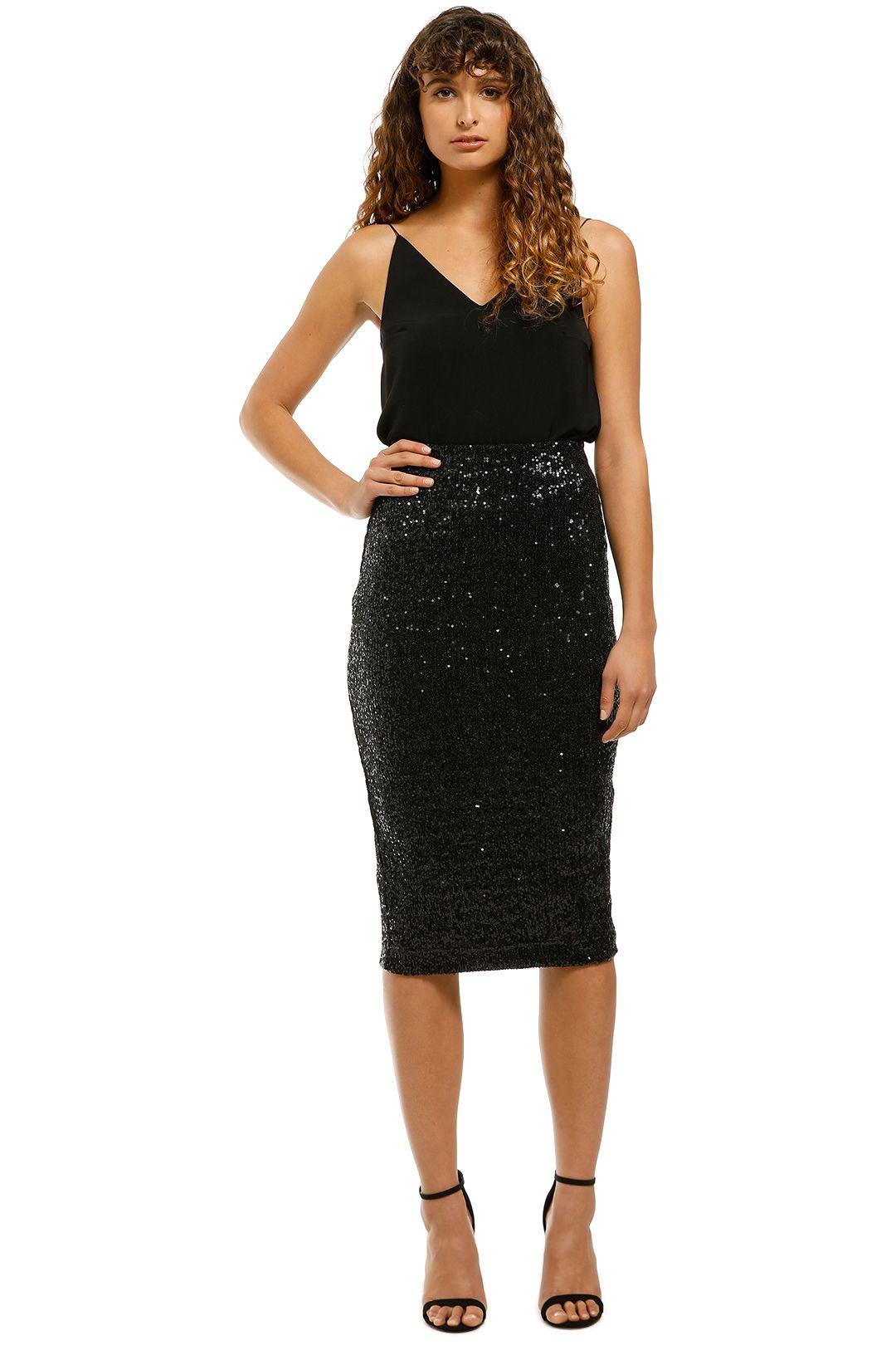 Rebecca-Vallance-Mica-Pencil-Skirt-Black-Front