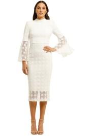Rebecca-Vallance-Mireya-Flare-Sleeve-Dress-Ivory-Front