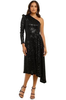 Rebecca-Vallance-Mona-1-Sleeve-Midi-Dress-Black-Front