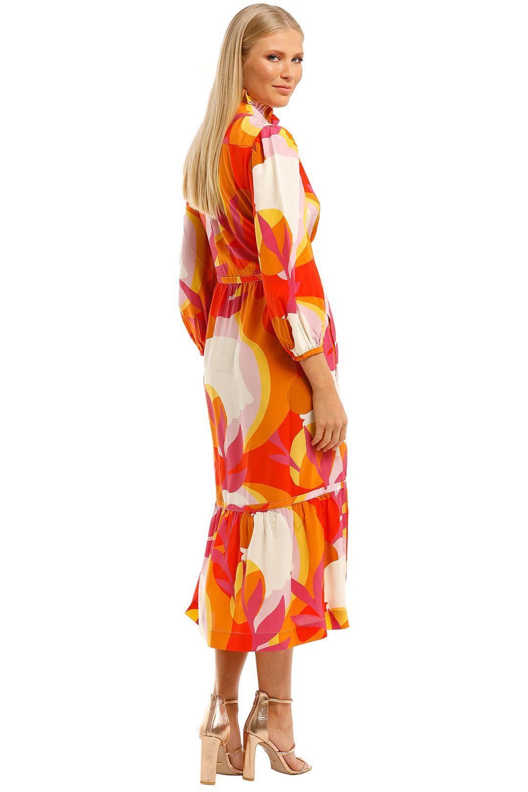 Rebecca-Vallance-Paradise-LS-Midi-Dress-Print-Back