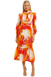Rebecca-Vallance-Paradise-LS-Midi-Dress-Print-Front