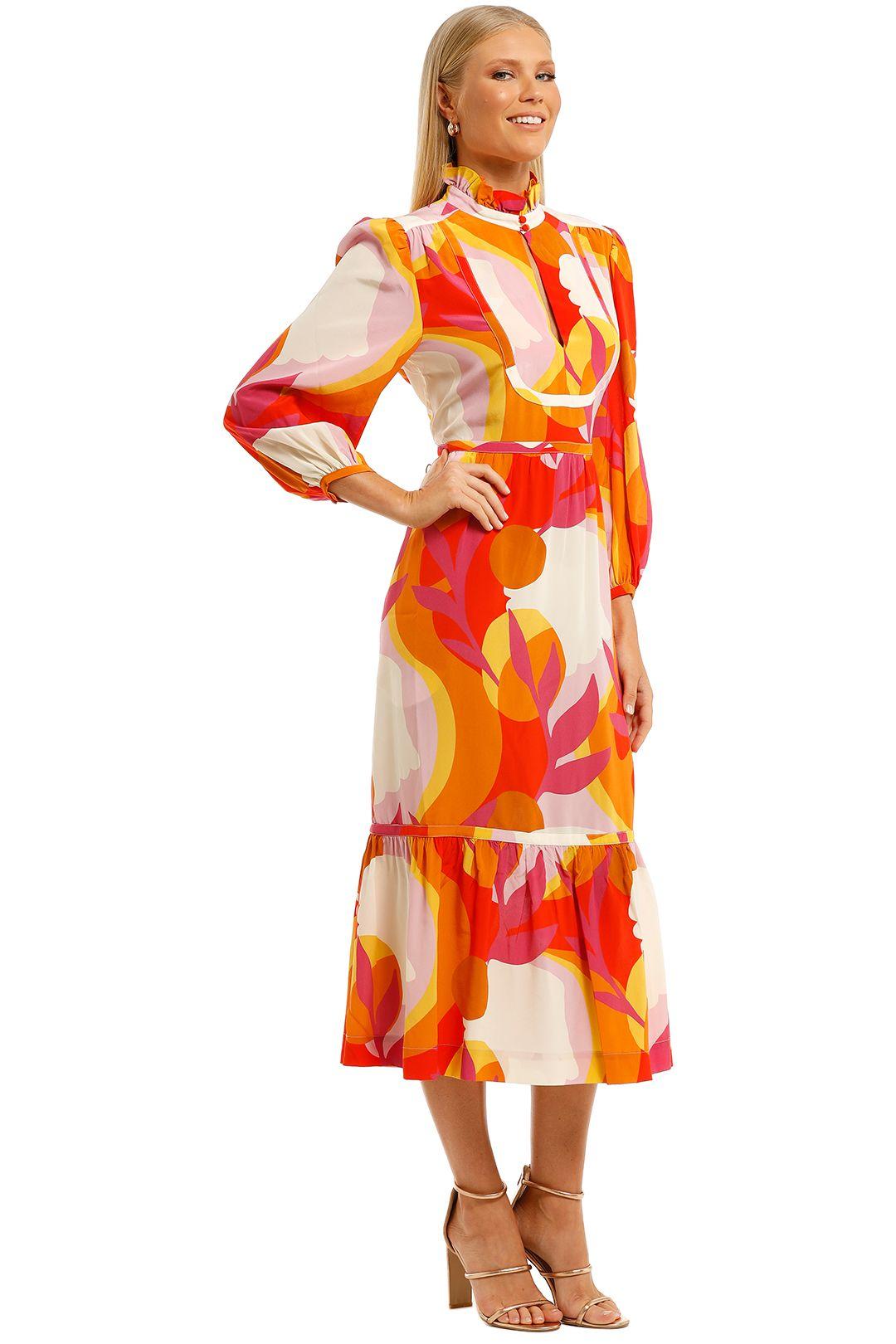 Rebecca-Vallance-Paradise-LS-Midi-Dress-Print-Side