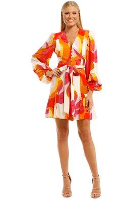 Rebecca Vallance - Paradise LS Mini Dress - Print