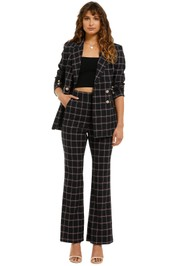 Rebecca-Vallance-Peta-Jacket-And-Pant-Set-Black-Check-Front