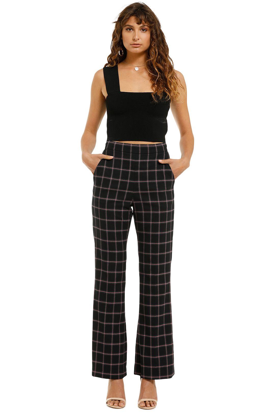 Rebecca-Vallance-Peta-Pants-Black-Check-Front