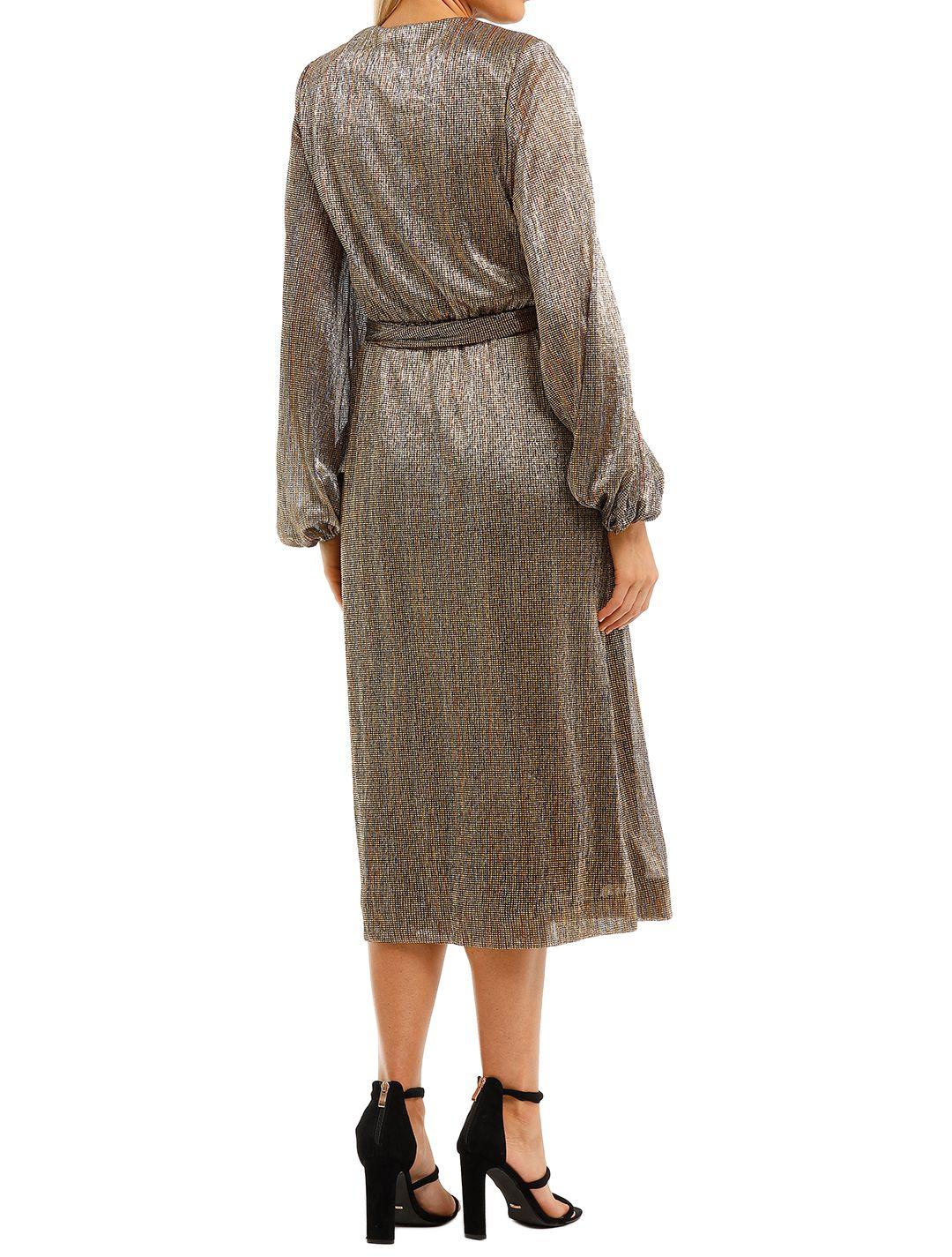 Rebecca-Vallance-Rivero-LS-Midi-Dress-Gold-Back