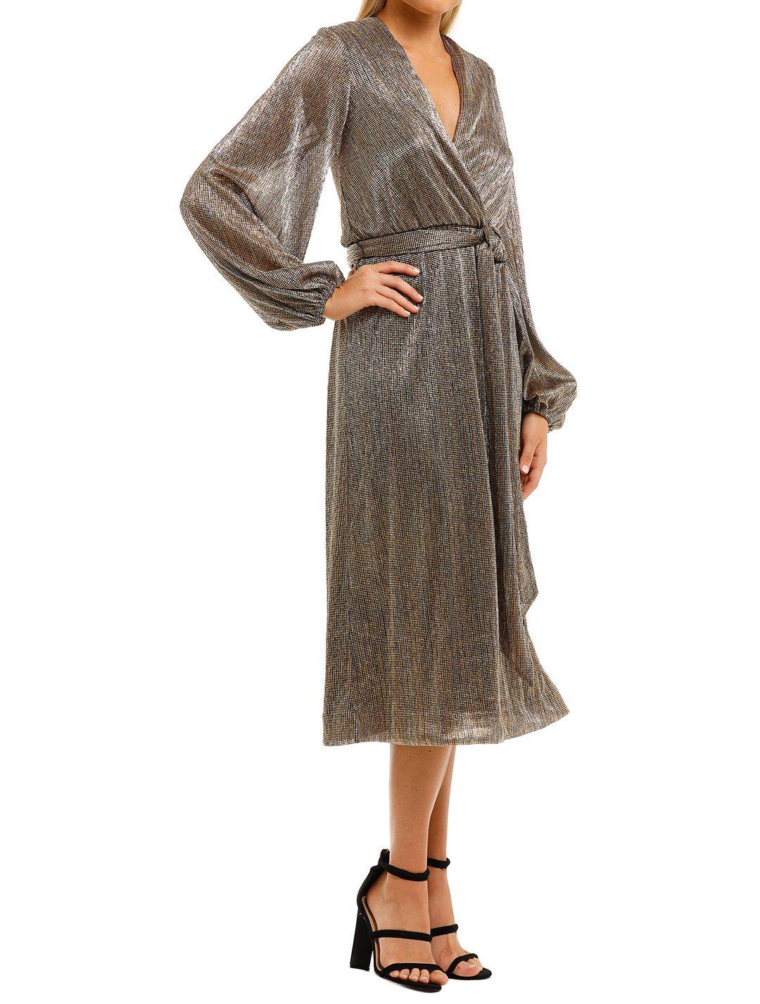 Rebecca-Vallance-Rivero-LS-Midi-Dress-Gold-Side