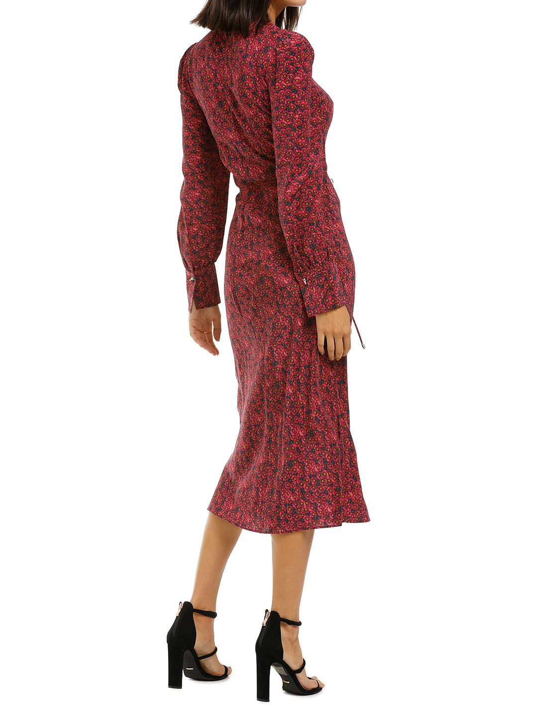 Rebecca-Vallance-Rosetter-LS-Midi-Dress-Berry-Floral-Back