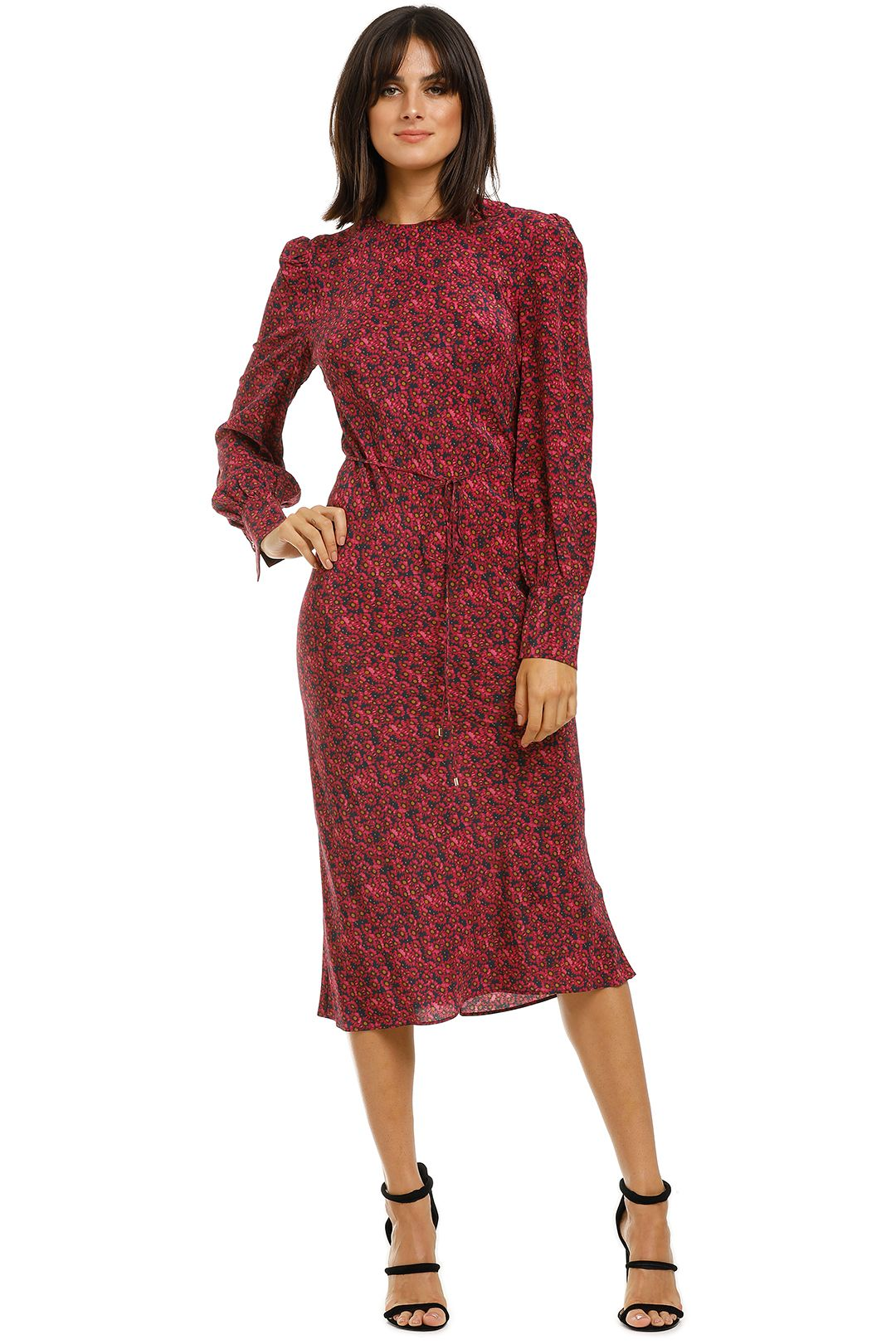 Rebecca-Vallance-Rosetter-LS-Midi-Dress-Berry-Floral-Front