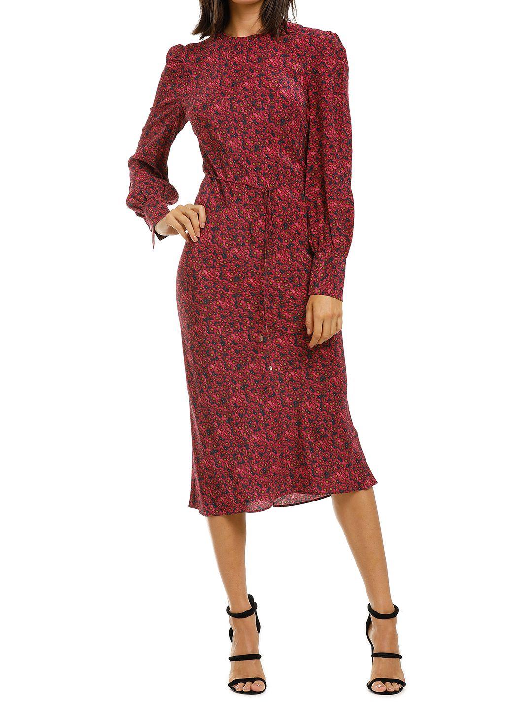 Rebecca-Vallance-Rosetter-LS-Midi-Dress-Berry-Floral-Front